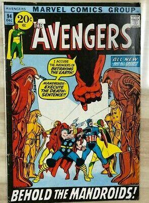 AVENGERS #94 (1971) Marvel Comics Neal Adams art VG+