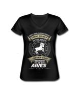 Women's Aries Zodiac V-Neck T-Shirt Astrology - $21.99