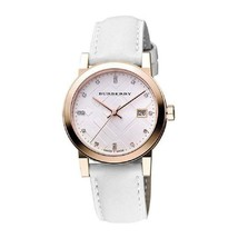Burberry BU9130 The City Rose Gold Leather Ladies Watch w/ Date Dial - $111.30