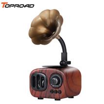 TOPROAD® Retro Wooden Bluetooth Speaker Altavoz Portable Wireless Speakers - $36.04