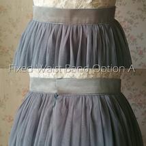 DUSTY PINK Tulle Midi Skirt Women High Waist Dusty Pink Tutu Midi Cocktail Skirt image 11