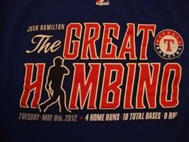 49de883e75d MLB Texas Rangers Baseball Josh Hamilton The Great Hambino 2012 T Shirt  Size M -  17.46