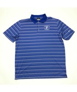 Nike Golf Men's Blue Striped Dri Fit  Short Sleeve Polo Shirt Adult Size... - £17.24 GBP