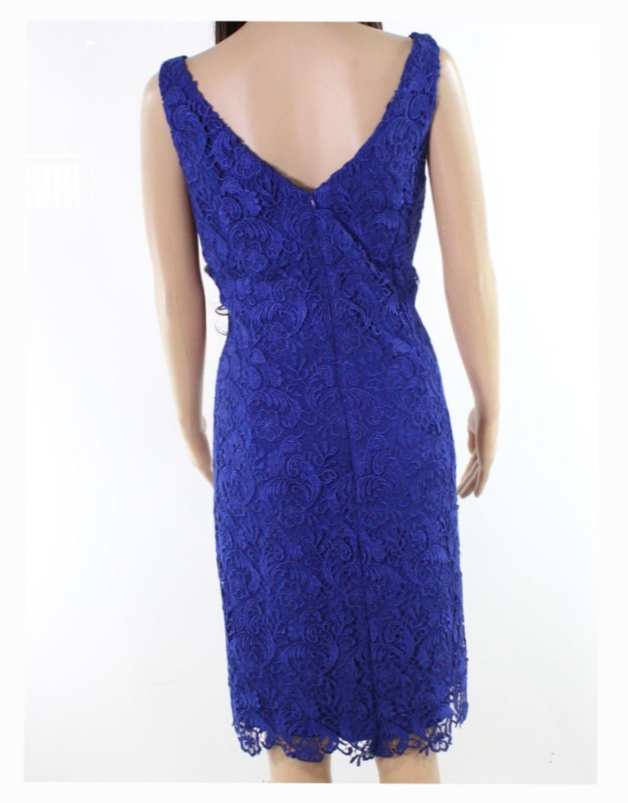 Lauren Ralph WOMENS Slim-Fit Floral Lace Sheath Dress-DAME/PURPLE-10