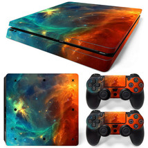PS4 Slim Cosmic Space Console & 2 Controllers Decal Vinyl Art Skin Wrap  - $14.82