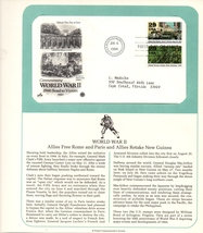 World War II, Allies Free Rome, Commemorative Society, 1st Day of Issue,... - $2.25