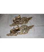 VINTAGE BURWOOD PRODUCTS USA WALL HANGING TAPER CANDLE HOLDERS SET #4055 - $24.70