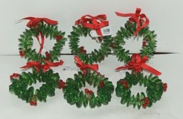 Ganz Crystal Expressions ACRYX165 Holiday Wreath Ornament Red Green Set of 6 image 1