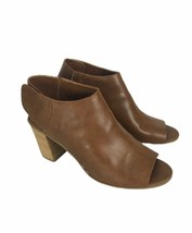 """Mossimo Womans Shoes Size 9.5 Brown Open Toe Heel Snap Closure 3"""" Heel  - $21.58"""