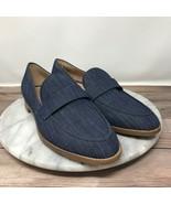 NEW Franco Sarto Hudley Blue Shimmer Denim Slip On Loafers Womens Size 7 - $49.95