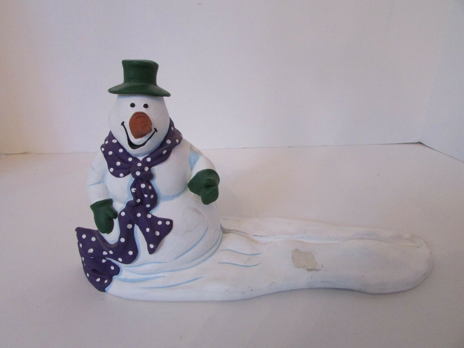 Primary image for DEPT 56  FIGURINE 98744 SNOWMAN SIGN HOLDER ALL THROUGH THE HOUSE SERIES AS IS