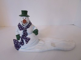 DEPT 56  FIGURINE 98744 SNOWMAN SIGN HOLDER ALL THROUGH THE HOUSE SERIES... - $8.86