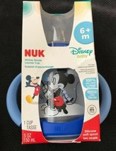 Nuk Disney Baby Mickey Mouse 5oz Silicone Soft Spout Learner Cup 6+M & P... - $16.99
