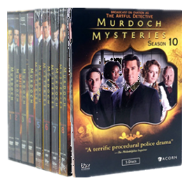 Murdoch Mysteries Complete Series Seasons 1-10 DVD Box Set 44 Dsic Free Shipping