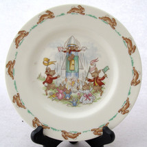 Royal Doulton Bunnykins Bread and Butter Plate Rocket Launch - $26.99