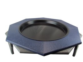 "JCs Wildlife Ground Garden Poly Lumber Bird Bath 16"" Blue Gray Low Profile - $62.69"