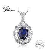 925 Sterling Silver Blue Sapphire Gemstone Pendant necklace + Chain [PEN... - $17.82
