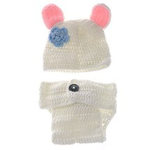 Foxnovo Cute White Rabbit Style Baby Newborn Hand Knitted Crochet Hat Co... - $8.77
