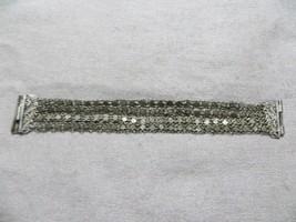 Antique Victorian 4 Strands Filigree Links /Clasp 800 Silver bracelet 6.... - $49.99