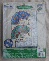 2007 Jeweled Calendar, Fans and Butterflies Bucilla Felt Craft Kit Oriental Fans - $14.84