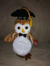 "TY Beanie Baby 2000 Wisest Owl Class Of 00 NWT 8"" Beanbag Graduation Cap... - $9.90"