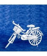 Dollhouse Medium White Bicycle eiwf541 Town Square Miniatures - $18.95