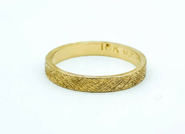 Vintage Mid Century 10k Yellow Gold Filled Etched Wedding Band Ring Size... - $65.69