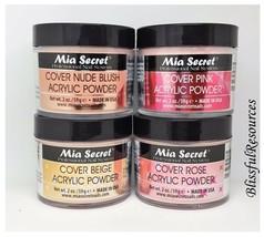 Mia Secret COVER Acrylic POWDER in 2oz NUDE BLUSH, PINK, ROSE & BEIGE  - $39.59