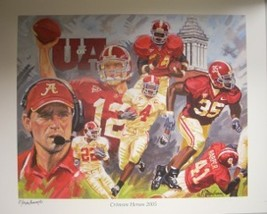 Alabama Crimson Tide unsigned 2005 Crimson Heroes 16x20 Lithograph - $17.95