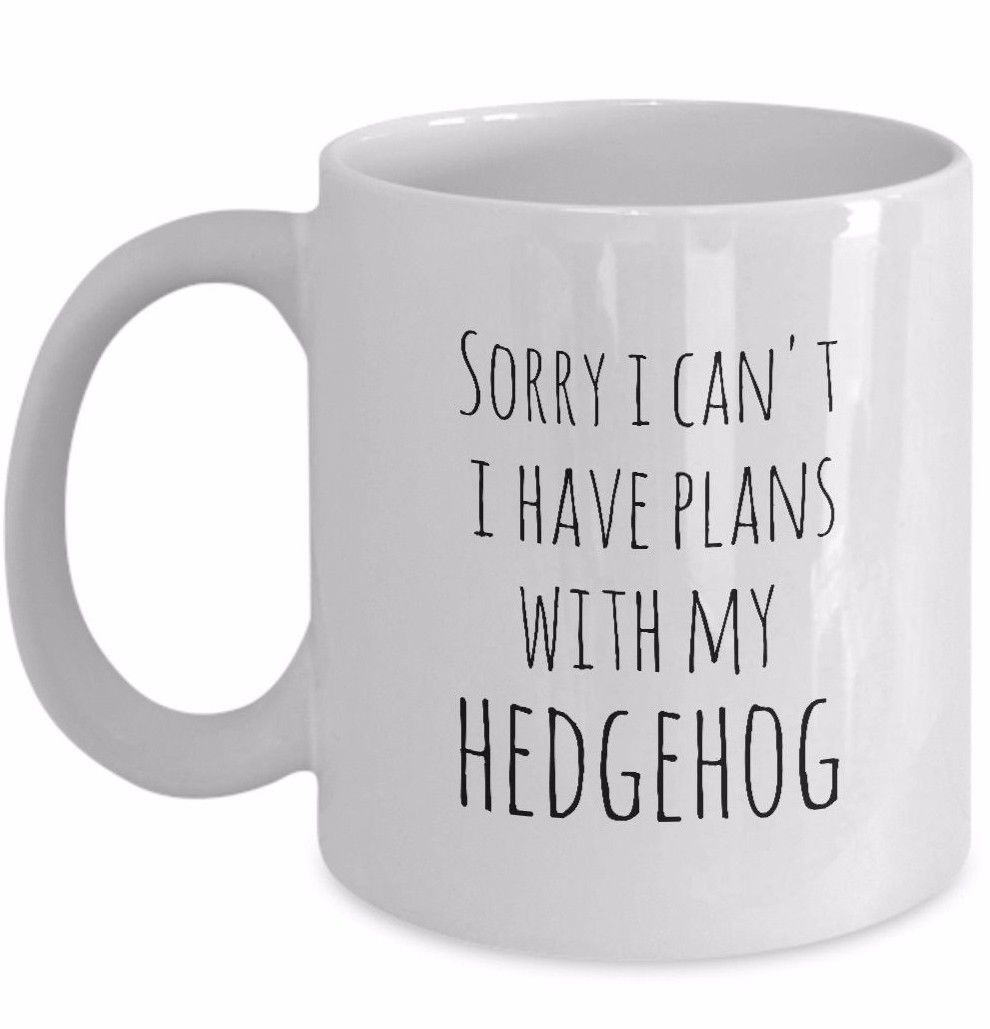 Hedgehog Mug Sorry I Can't I Have Plans With My Hedgehog Owner Hedgehog Life Cup