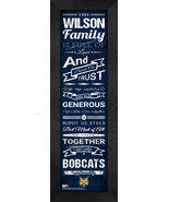 "Personalized Quinnipiac University ""Bobcats"" 24x8 Family Cheer Framed Print - $39.95"