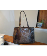 Authentic Brahmin Medium Irene Coffee Melbourne Embossed Leather New W/Tag - $197.99