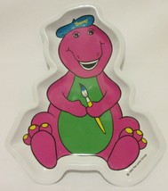 1993 Barney The Dinosaur Melamine Serving Plate Paint Painter Artist Sel... - $19.77