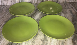"Dinner Formal Plates Set Of 4 Lime Green 10 1/2"" By Royal Norfolk NEW-SH... - $48.88"