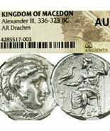 ALEXANDER the Great Lifetime NGC certified AU Ancient Greek Silver Coin ... - $629.10