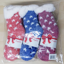 Angelina Girl's 3 Pack Christmas Sherpa Lined Thermal Socks Size 6-8
