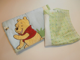 "Winnie the Pooh Quilt Comforter Disney Baby 33"" x 42"" and Crib Skirt - $29.02"