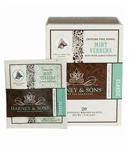 Harney and Sons Mint Verbena, Caffeine-Free Herbal 20 Sachets per Box by... - $16.89
