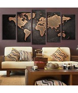 5 Pcs/Set Modern Abstract Canvas Print Painting Picture Wall World Map - $23.29+