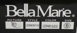 Bella Marie Vermont 61 Leopard Suede Double Buckle Plus Zipper Size 6 image 10