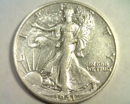 1941-S WALKING LIBERTY HALF EXTRA FINE / ABOUT UNCIRCULATED XF/AU ORIGIN... - $25.00