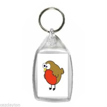 lost and out of season bird keyring double sided  keychain, keyfob
