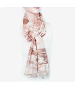 New RALPH LAUREN Anjali Desert Abstract Soft Poly Wool Women's Scarf May... - $11.99