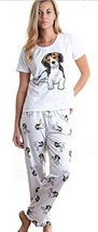 Dog Beagle pajama set with pants for women - $35.00