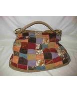 "Nice 14"" X 14"" LUCKY Brand Vintage Inspired Patch Tote Purse Handbag - $114.96"