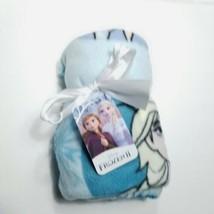 "Disney Frozen 2 Blue Fleece Travel Throw Blanket Anna Olaf Soft 40"" x 50... - $17.81"