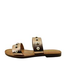Soda Gills S Dark Penny Women's Open Toe Dual Strap Embellished Sandals - $24.95+