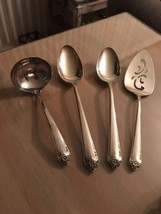 4 Starlight Serving Pieces Spoons, Gravy Ladle, Rogers Silverplate EUC! - $33.66