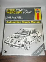 1984-94 Ford Tempo & Mercury Topaz Repair MANUAL~A1. - $19.79