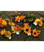 Autumn Floral Picks 8 Styles to Choose From Sunflowers, Orange or Green ... - $3.50+